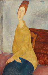 Jeanne Hebuterne with Yellow Sweater By Amedeo Modigliani