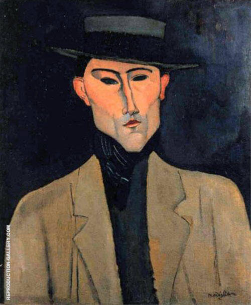 Portrait of a Man with Hat Jose Pacheco 1915 Painting By Amedeo Modigliani