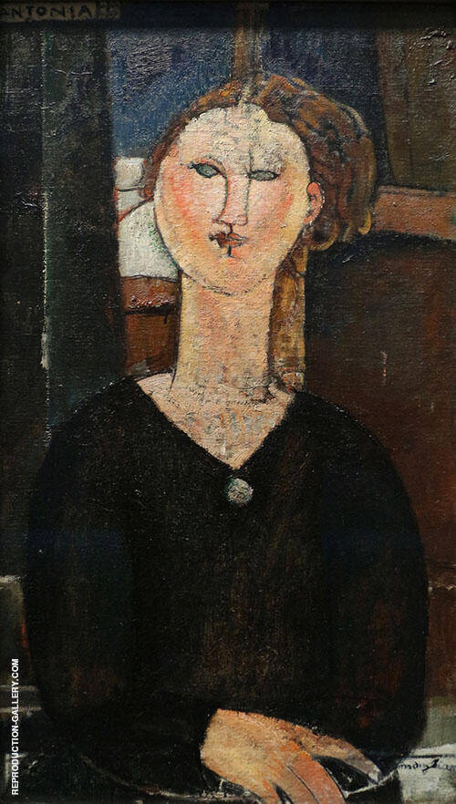 Reproduction of Antonia 1915 by Amedeo Modigliani | Oil Painting Replica On CanvasReproduction Gallery