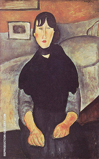 Reproduction of The Country Girl 1919 by Amedeo Modigliani | Oil Painting Replica On CanvasReproduction Gallery