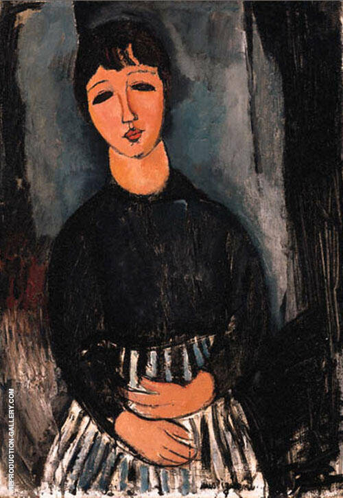 The Servant 1916 Painting By Amedeo Modigliani - Reproduction Gallery