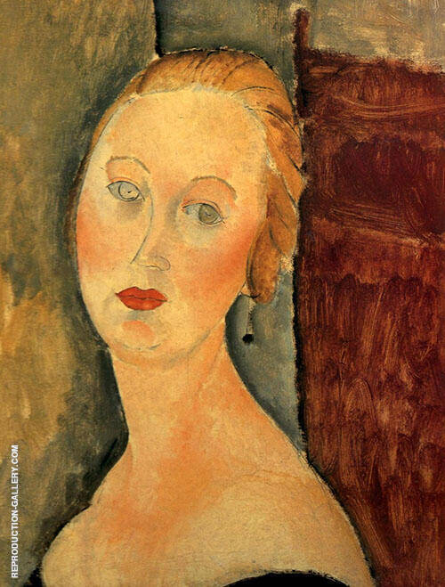Reproduction of Germaine Survage with Earrings 1918 by Amedeo Modigliani | Oil Painting Replica On CanvasReproduction Gallery