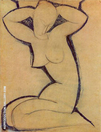 Cariatide Painting By Amedeo Modigliani - Reproduction Gallery