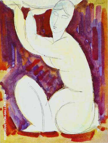 Caryatid 1913 A By Amedeo Modigliani - Oil Paintings & Art Reproductions - Reproduction Gallery