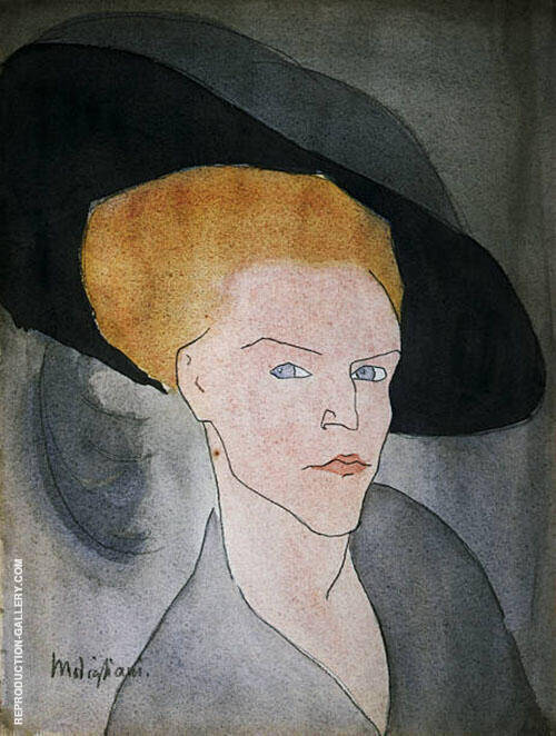 Head of a Woman with a Hat 1907 By Amedeo Modigliani Replica Paintings on Canvas - Reproduction Gallery