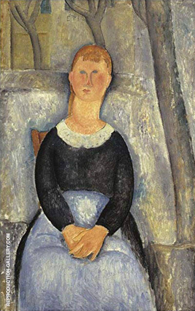 Reproduction of La Belle Epiciere 1918 by Amedeo Modigliani | Oil Painting Replica On CanvasReproduction Gallery