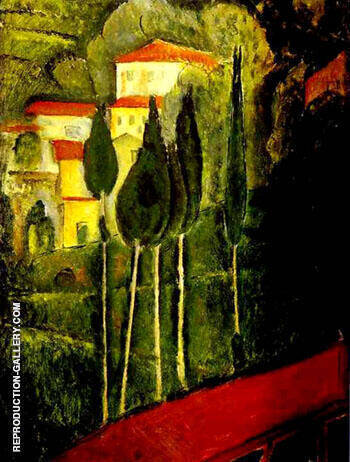 Landscape 1919 By Amedeo Modigliani - Oil Paintings & Art Reproductions - Reproduction Gallery