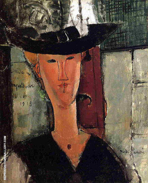 Madame Pompadour 1915 By Amedeo Modigliani