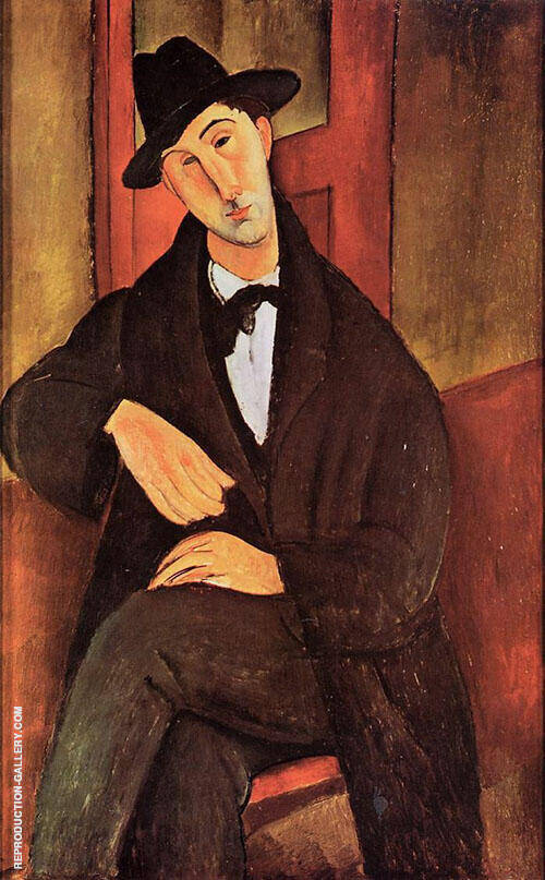 Portrait of Mario Varvogli 1919 By Amedeo Modigliani Replica Paintings on Canvas - Reproduction Gallery