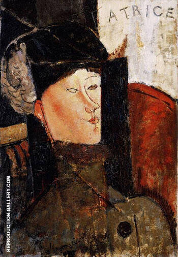 Beatrice Hastings By Amedeo Modigliani - Oil Paintings & Art Reproductions - Reproduction Gallery