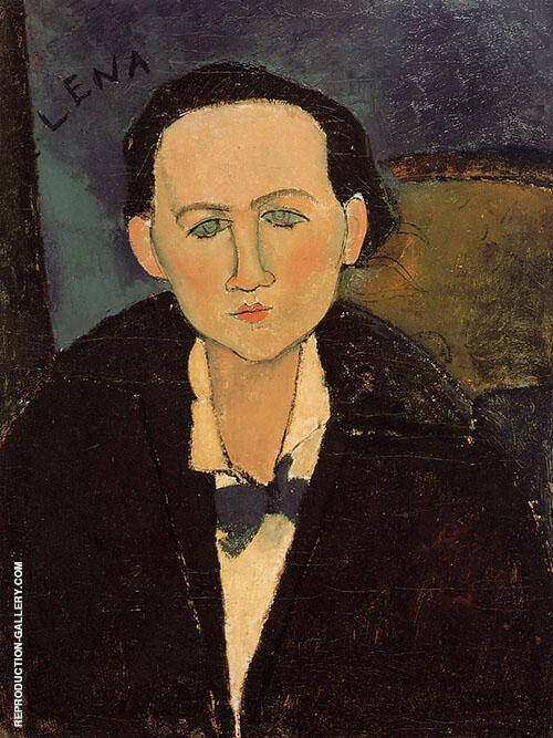 Reproduction of Elena Pavlowski 1917 by Amedeo Modigliani | Oil Painting Replica On CanvasReproduction Gallery
