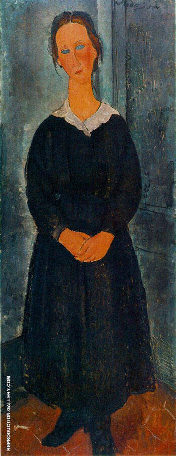 Jeune Bonne By Amedeo Modigliani - Oil Paintings & Art Reproductions - Reproduction Gallery