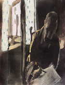 The Artist at the Window 1909 By Paul Klee