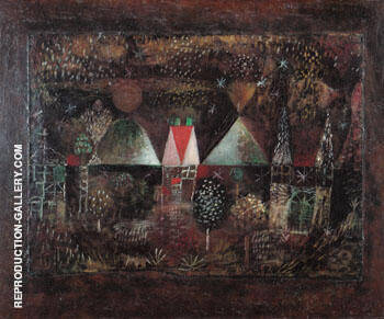 Nocturnal Festivity 1921 Painting By Paul Klee - Reproduction Gallery