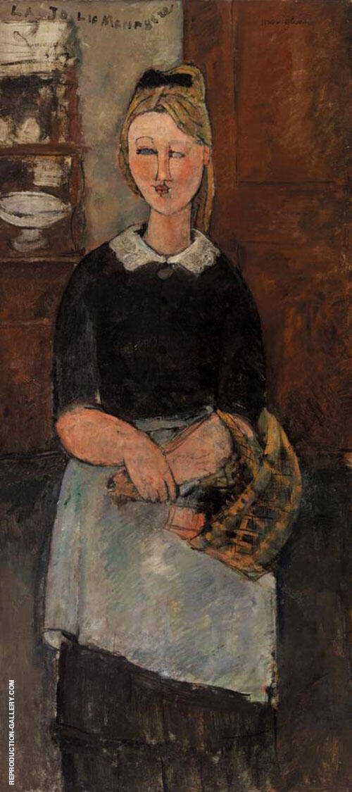 Pretty Housewife 1915 By Amedeo Modigliani - Oil Paintings & Art Reproductions - Reproduction Gallery
