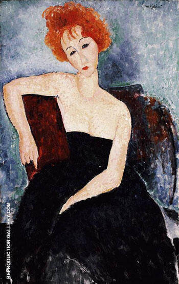 Redhead Dress By Amedeo Modigliani - Oil Paintings & Art Reproductions - Reproduction Gallery