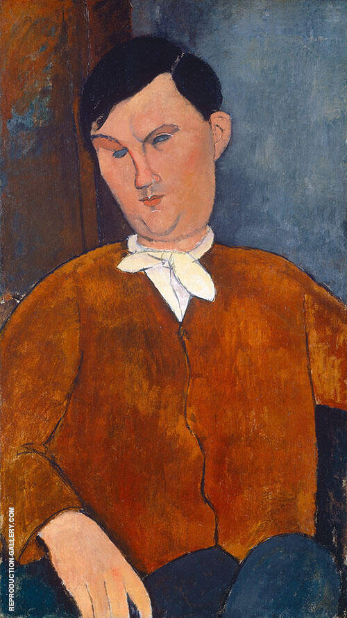 Monsieur Deleu 1916 By Amedeo Modigliani Replica Paintings on Canvas - Reproduction Gallery
