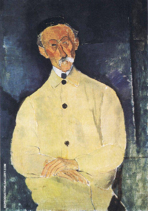 Monsieur Lepoutre 1916 By Amedeo Modigliani Replica Paintings on Canvas - Reproduction Gallery