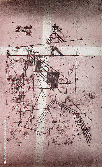 Reproduction of The Tightrope Walker 1923 by Paul Klee | Oil Painting Replica On CanvasReproduction Gallery