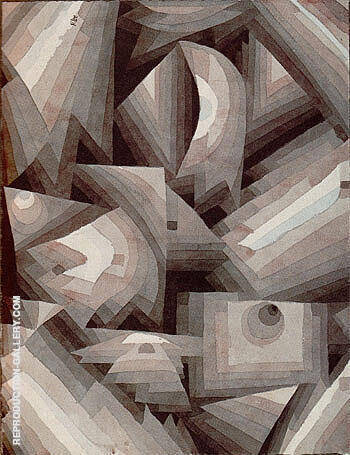 Crystal Gradation 1921 By Paul Klee - Oil Paintings & Art Reproductions - Reproduction Gallery