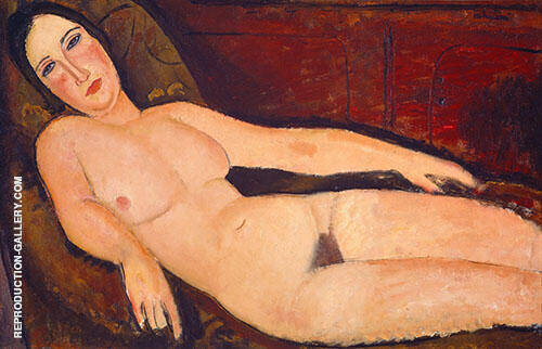 Nude on a Divan 1918 By Amedeo Modigliani Replica Paintings on Canvas - Reproduction Gallery