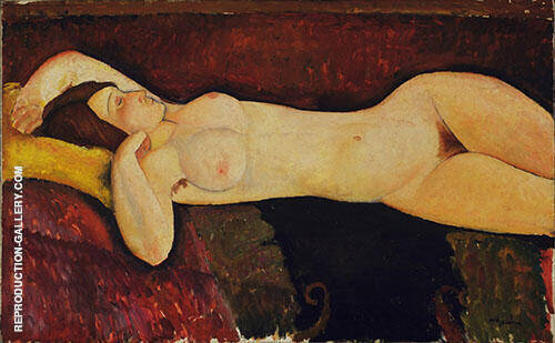 Reproduction of Reclining Nude 1919 by Amedeo Modigliani | Oil Painting Replica On CanvasReproduction Gallery