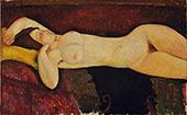 Reclining Nude 1919 By Amedeo Modigliani
