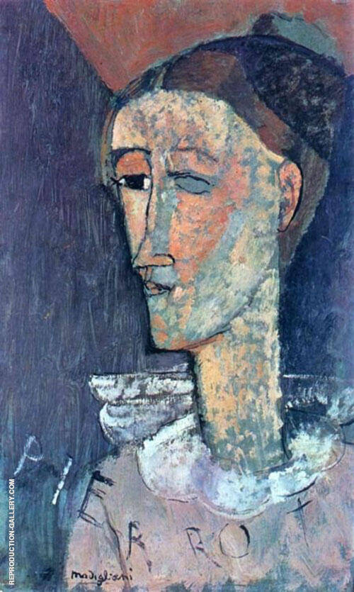 Pierrot 1915 By Amedeo Modigliani