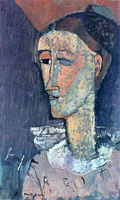 Pierrot 1915 By Amedeo Modigliani
