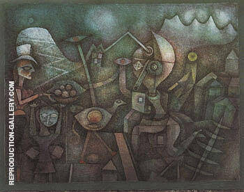 Carnival in the Mountains 1924 By Paul Klee - Oil Paintings & Art Reproductions - Reproduction Gallery