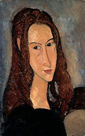 Portrait of Jeanne Hebuterne Head in Profile 1918 By Amedeo Modigliani