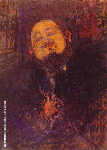 Portrait of Diego Rivera c1914 By Amedeo Modigliani - Oil Paintings & Art Reproductions - Reproduction Gallery