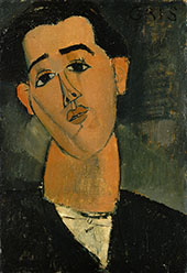 Portrait of Juan Gris 1915 By Amedeo Modigliani