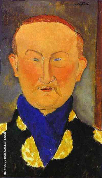 Portrait of Leon Bakst 1917 By Amedeo Modigliani - Oil Paintings & Art Reproductions - Reproduction Gallery