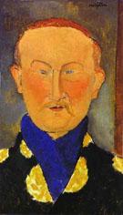 Portrait of Leon Bakst 1917 By Amedeo Modigliani