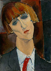 Portrait of Madame Kisling c1917 By Amedeo Modigliani