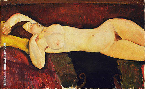 Reclining Nude Le Grande Nu c1919 Painting By Amedeo Modigliani