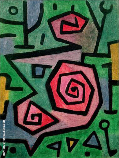Reproduction of Heroic Roses 1938 by Paul Klee | Oil Painting Replica On CanvasReproduction Gallery