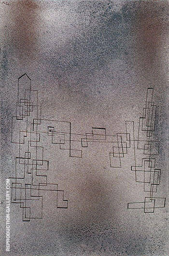 Threatening Snowstorm 1927 By Paul Klee - Oil Paintings & Art Reproductions - Reproduction Gallery