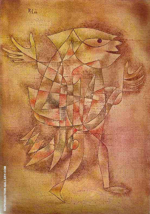 Reproduction of Little Jester in a Trance 1929 by Paul Klee | Oil Painting Replica On CanvasReproduction Gallery