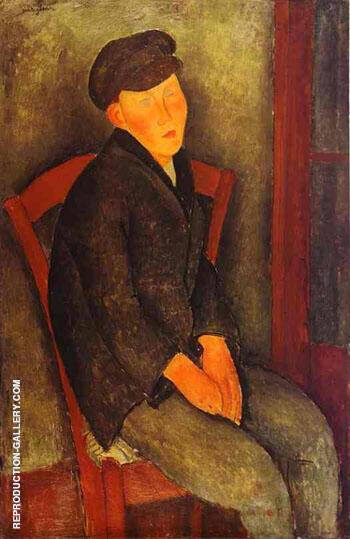 Reproduction of Seated Boy with Cap 1918 by Amedeo Modigliani | Oil Painting Replica On CanvasReproduction Gallery