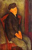 Seated Boy with Cap 1918 By Amedeo Modigliani