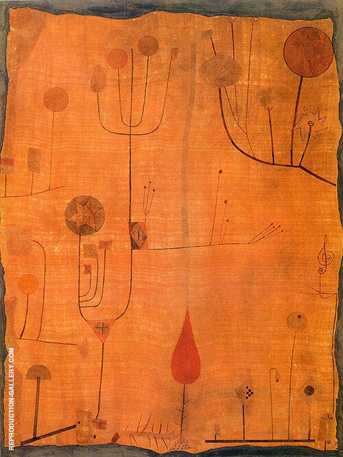 Fruits on Red 1930 By Paul Klee Replica Paintings on Canvas - Reproduction Gallery