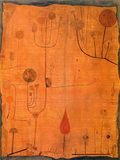 Fruits on Red 1930 By Paul Klee