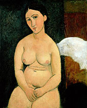 Seated Nude 1917 A By Amedeo Modigliani