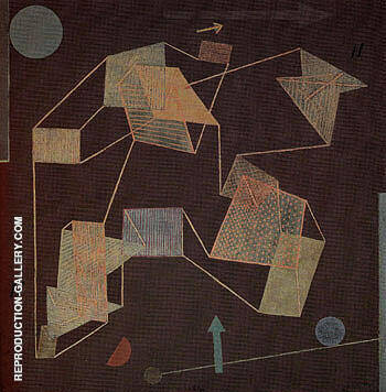 Uplift and Direction Glider Flight 1932 By Paul Klee