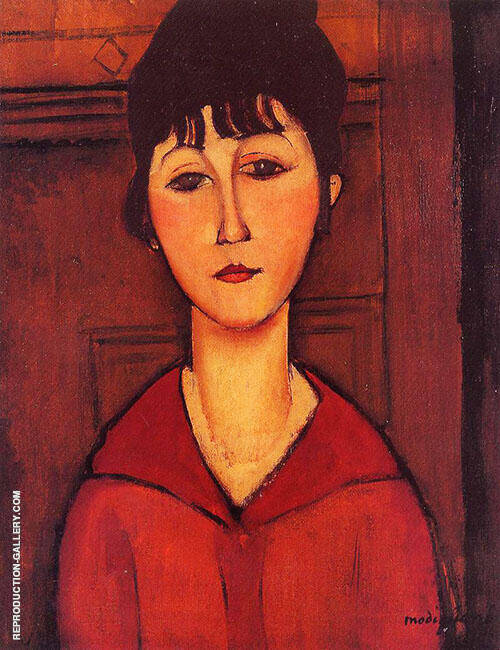 Tete De Jeune Fille By Amedeo Modigliani - Oil Paintings & Art Reproductions - Reproduction Gallery