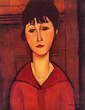 Tete De Jeune Fille By Amedeo Modigliani