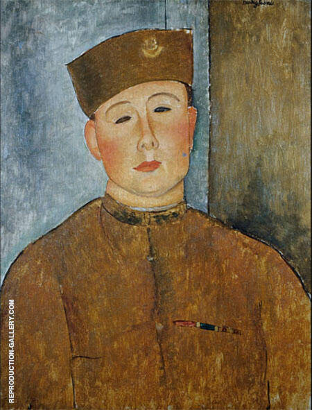 The Zouave 1918 Painting By Amedeo Modigliani - Reproduction Gallery