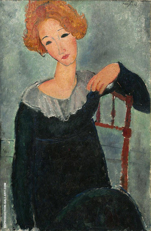 Reproduction of Woman with Red Hair 1917 by Amedeo Modigliani | Oil Painting Replica On CanvasReproduction Gallery